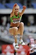 Kazakh jumper Olga Rypakova competes during the Women's triple jump... News Photo - Getty Images