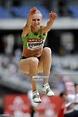 Kazakh jumper Olga Rypakova competes during the Women's ...