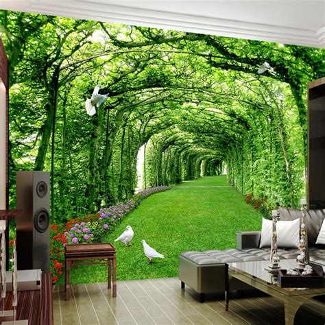 avikalp custom photo wallpaper  walls   green forest