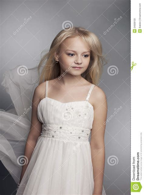Beautiful Little Girl With Long Hair Svetlyi Stock Photos
