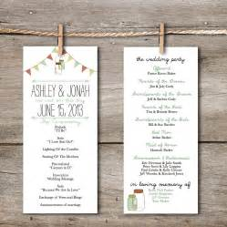 rustic wedding programs unavailable listing on etsy