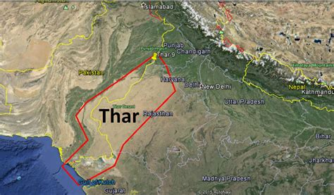 thar desert location answer b