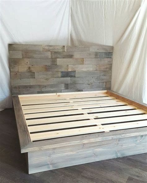 steph grey driftwood finished platform bed  horizontal