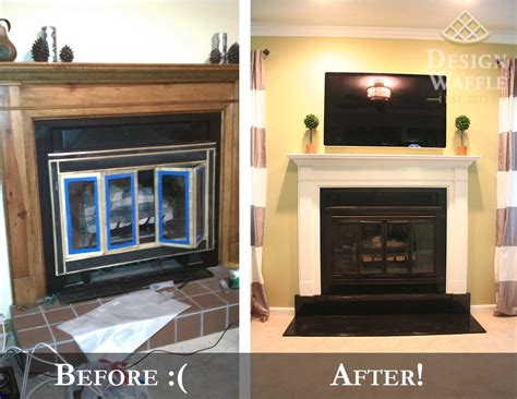 fireplace makeover part   hearth design waffle