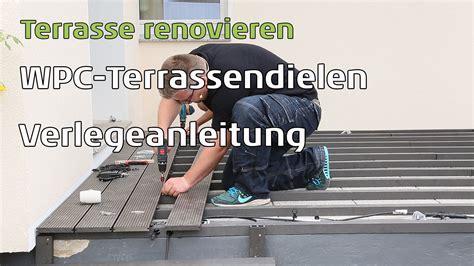 Wpc Auf Balkon Verlegen by Wpc Terrassendielen Auf Alten Betonplatten Verlegen