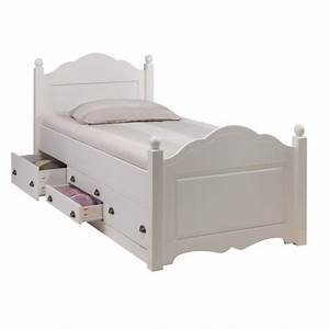 Lit Enfant 190 : lit enfant blanc 4 tiroirs 90 x 190 cm beaux meubles pas chers ~ Teatrodelosmanantiales.com Idées de Décoration