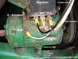 John Deere B Light Switch  Harness