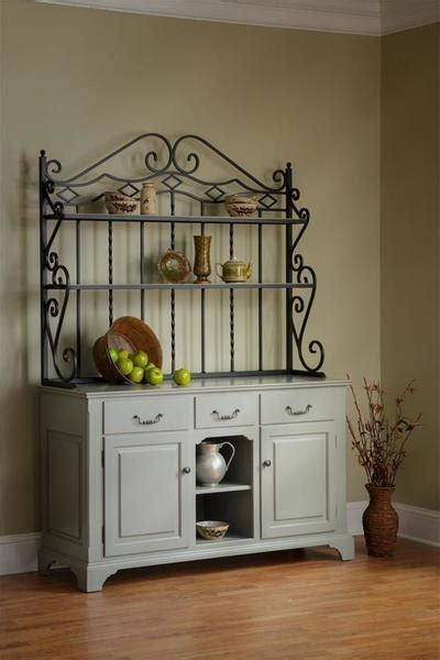 french country kittrell hutch  bakers rack