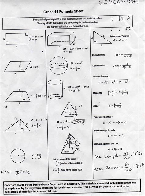 Math Worksheets High School Geometry Homeshealthinfo