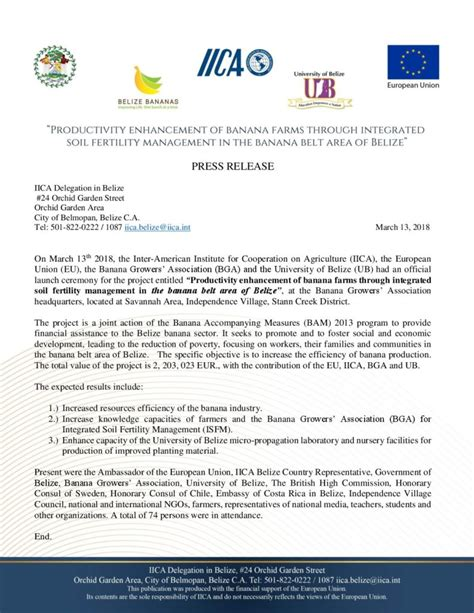 Press Release - Agriculture