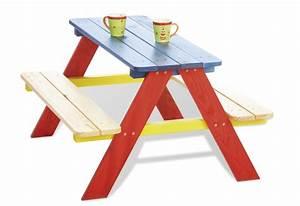 Table Enfant Exterieur : table ext rieur enfant bleue rouge et jaune en pin ~ Melissatoandfro.com Idées de Décoration