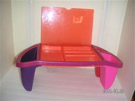 justb byou kid lap desk pink purple organizer tray storage