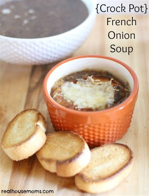 soup in a crock pot crockpot french onion soup recipe dishmaps