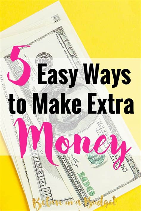 5 Easy Ways You Can Make Money Today  Believe In A Budget