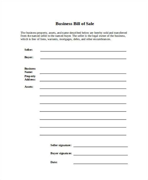 18090 business bill of form bill of form in word
