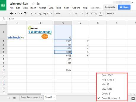Sử Dụng Google Sheets, 5 Mẹo Cần Biết Khi Dùng Google