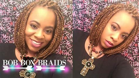 bob box braids tutorial youtube