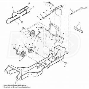 Simplicity Subframe  U0026 Hitch For Snow Blowers