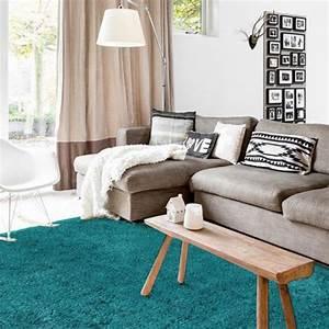 Tapis Scandinave Pas Cher : tapis bleu extra doux 160x230cm caline grand tapis chambre tapis salon pas cher ~ Teatrodelosmanantiales.com Idées de Décoration