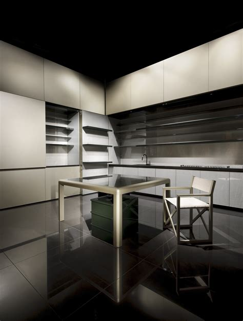 disappearing sleek  polish kitchen design calyx