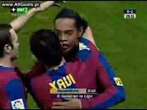 Gool Del Ronaldinho Atletico 0-1 Barca - YouTube