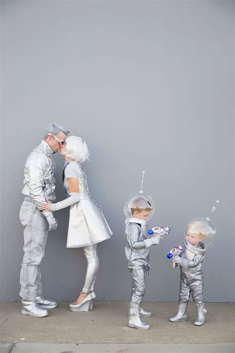 diy space family costumes  love  party