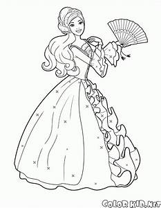 Coloring page Barbie fan