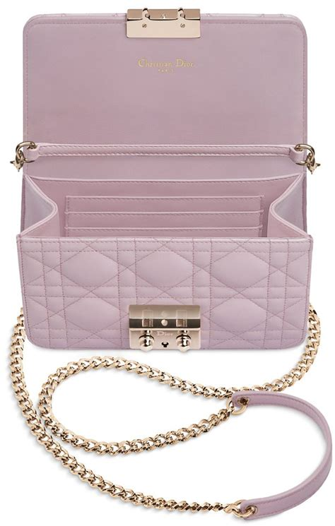 dior pearlised lotus mini pouch  chains bragmybag