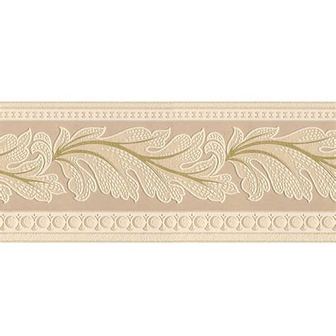 Style Selections 5 in Beige Prepasted Wallpaper Border at