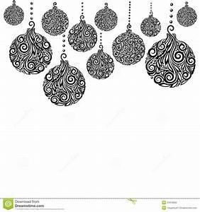 Noel Noir Et Blanc : beau fond noir et blanc monochrome de no l avec accrocher de boules de no l illustration de ~ Melissatoandfro.com Idées de Décoration