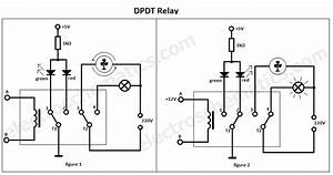 dpdt relay double pole double throw With 4 way switch relay