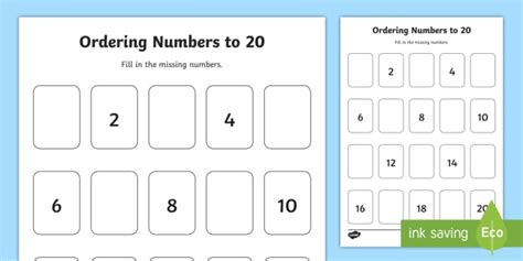missing odd numbers   ordering activity