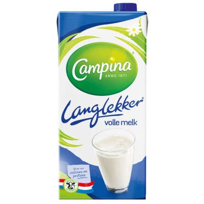 campina lang lekker volle melk pak  liter