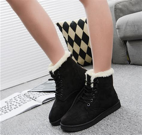 winter boots snow boots female cotton padded shoes womens