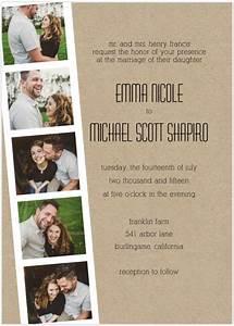 photo strip wedding invitations wedding card invitations With photo film wedding invitations