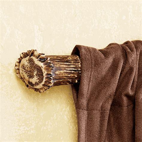 antler curtain rod ends pair