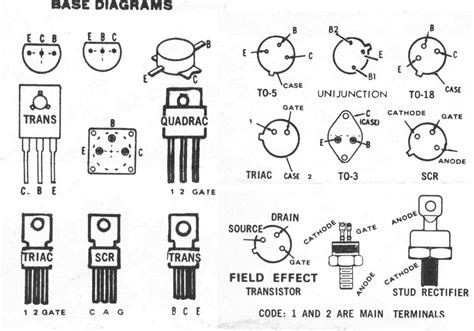 Transistor Pin Diagram by Transistor Pinout Chart Industrial Electronic Components
