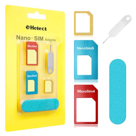 Helect 5 In 1 Sim Card Adapter Kit Nano Micro Sim Converter For Iphone Samsung Ebay