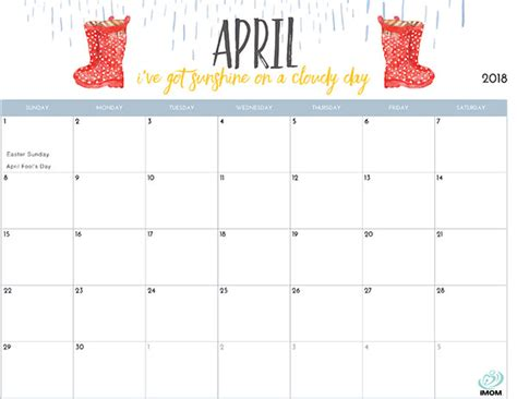 Printable Calendar 2020 Girly