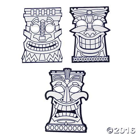 Tiki Totem Templates by Printable Tiki Mask Coloring Pages Coloring Home