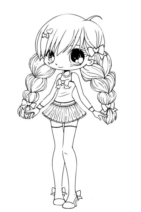 chibi coloring pages to and print for free