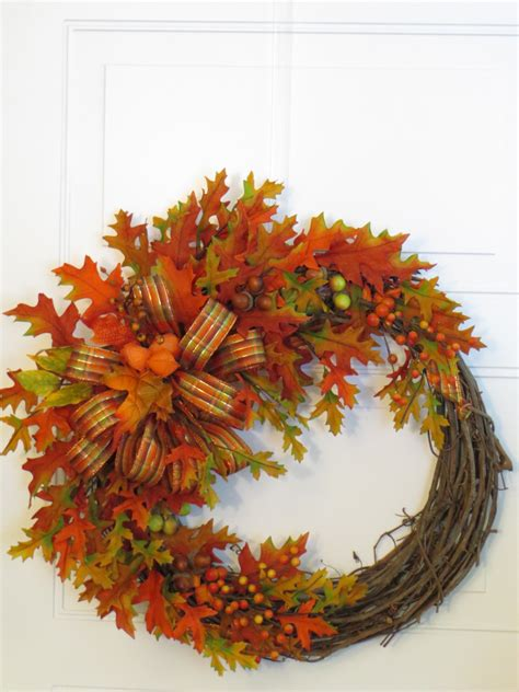 wreaths for fall fall wreath front door wreath autumn leaves wreath fall