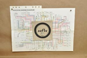 Wire Diagram Yamaha Venture by Vtg 1983 Yamaha Venture Royale 1200 Xvz12 Tdk Schematic