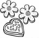 Coloring Pages Sugar Cookie Cookies Brownie Chocolate Chip Sheets Chips Biscuit Anycoloring Valentines Clip Ice Cream sketch template