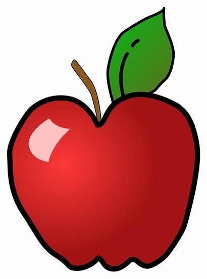 Apple Clip Polished Clipart Svg Shiny Teacher
