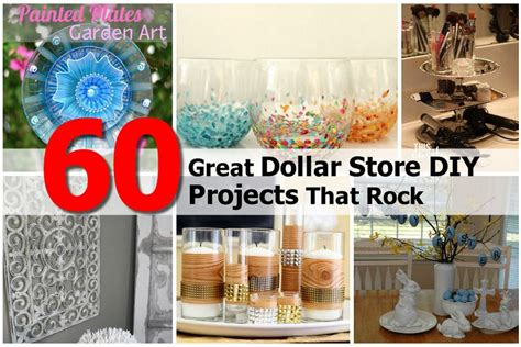 great dollar store diy projects  rock