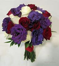 Red White and Purple Wedding Flowers