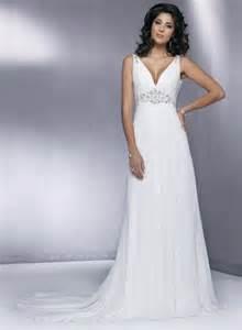 chiffon wedding gown v neck beaded chiffon sheath simple wedding dress prlog