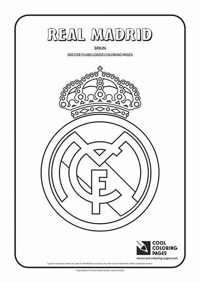 Coloring Pages Football Madrid Cool Logos Soccer