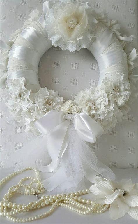 Wedding Wreath Wedding Door Wreath Shabby Chic Bridal